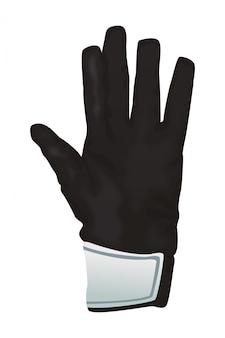 Goalkeeper glove icon