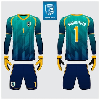 Goalkeeper jersey template design.