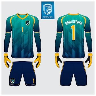 Goalkeeper jersey template design.