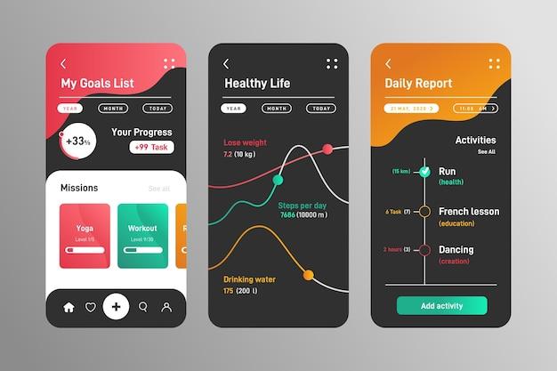 Шаблон приложения для отслеживания целей и привычек