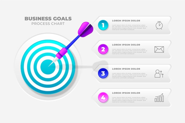 Goals business infographic concept