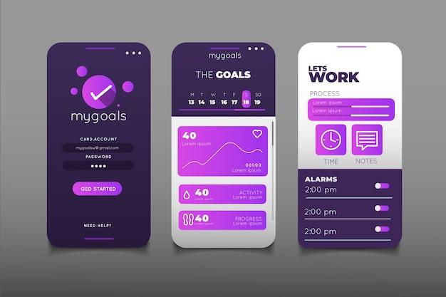 Obiettivi e abitudini che monitorano la raccolta di app