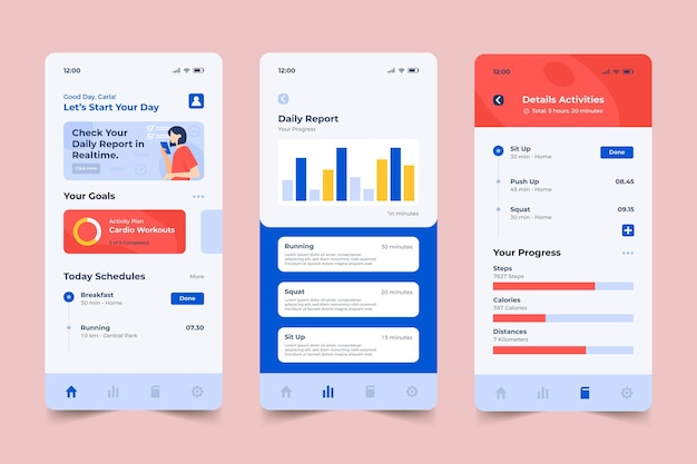 Goals and habits tracking application template