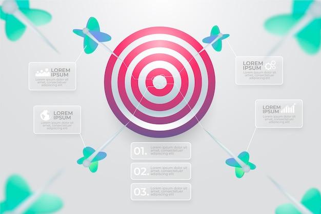 Goals infographic concept