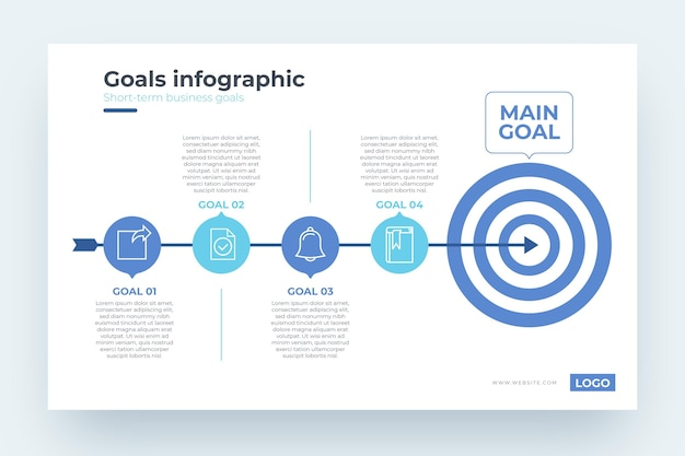 Goals infographic template