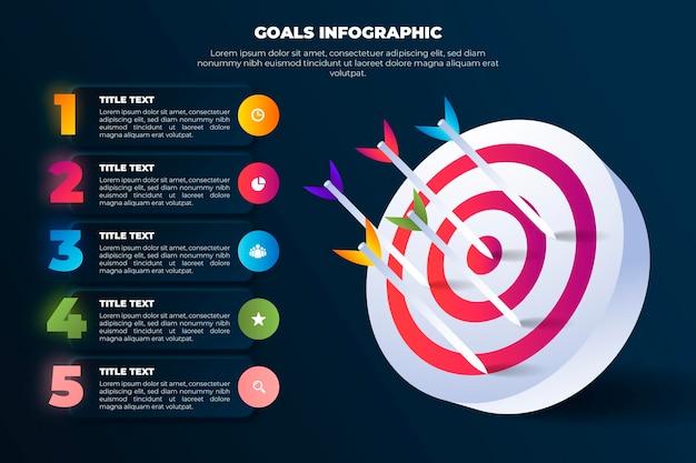 目標インフォグラフィックテンプレート