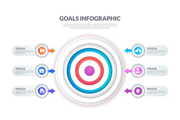 Шаблон инфографики целей