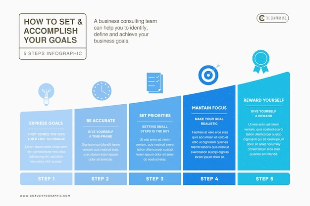Goals infographic