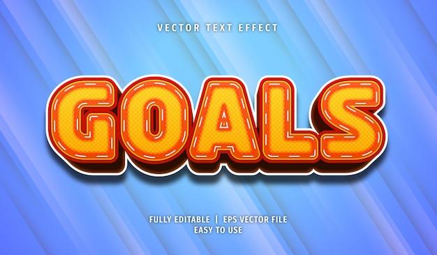 Goals text effect, editable text style
