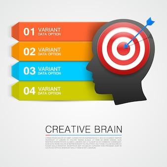 Goals with target information art. vector illustration