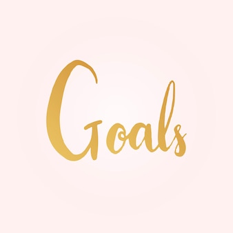 Goals word typography style vector
