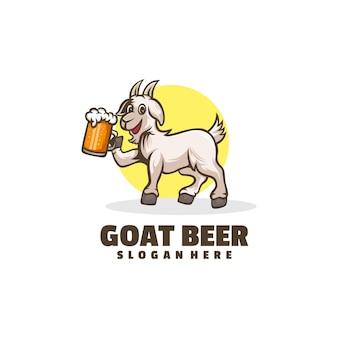 염소 맥주 만화 로고 디자인
