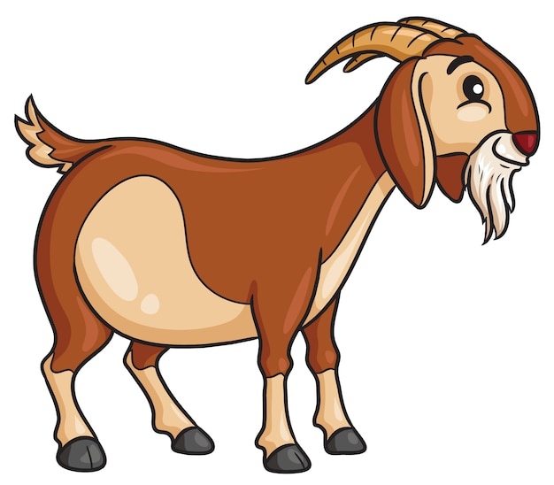 Goat cartoon style