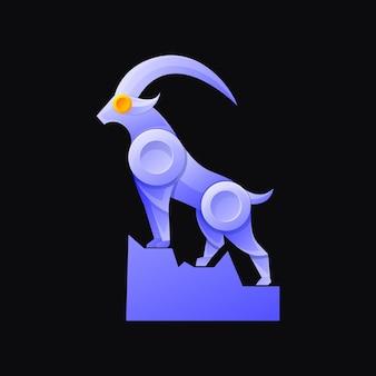 Goat colorful mascot