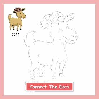 Goat connect the dotsワークシート