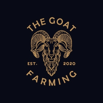 Козья ферма линии арт логотип