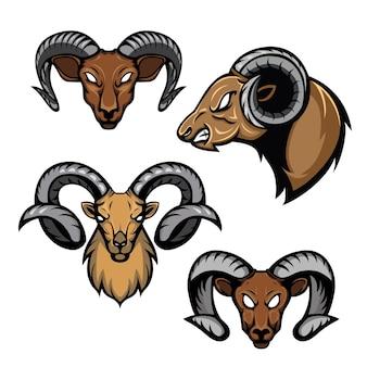 ヤギの頭のデザインイラスト