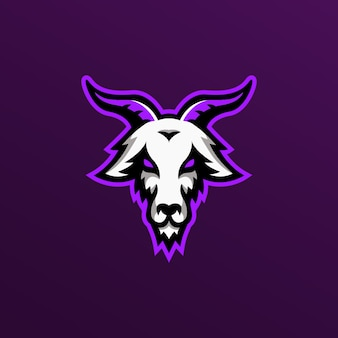 Goat illustartion mascot logo