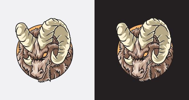 Goat logo design illustration