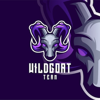 Goat logo design for sport or e-sport