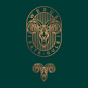 Goat logo design.