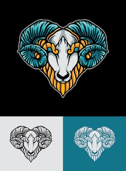 Коза логотип иллюстрация