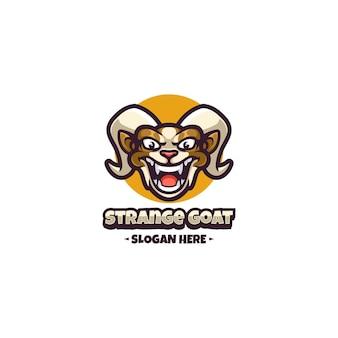 ヤギのロゴのマスコット
