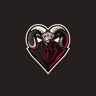 Goat logo sport illustration