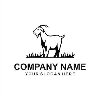 Коза логотип вектор