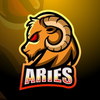 Goat mascot esport logo design