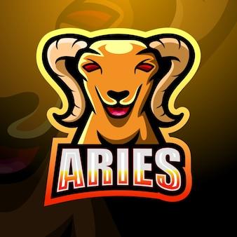 ヤギのマスコットeスポーツのロゴデザイン