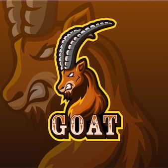 Goat mascot esport logo