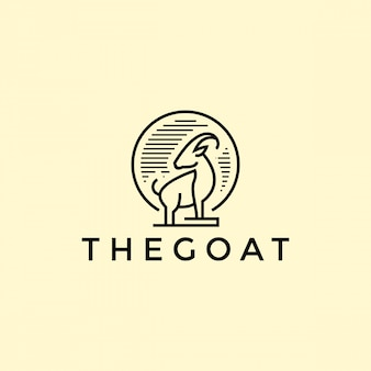 Goat outline logo