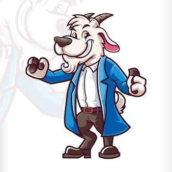 Коза овца постоянный ученый талисман герои мультфильмов