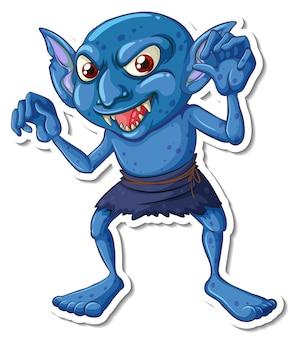 A goblin cartoon character sticker