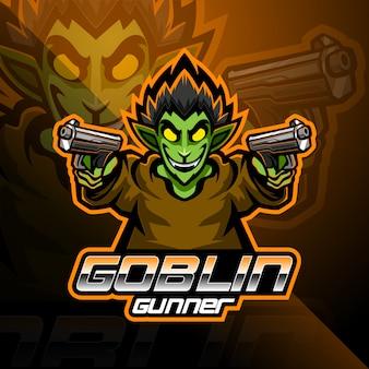 Goblin esport талисман дизайн логотипа