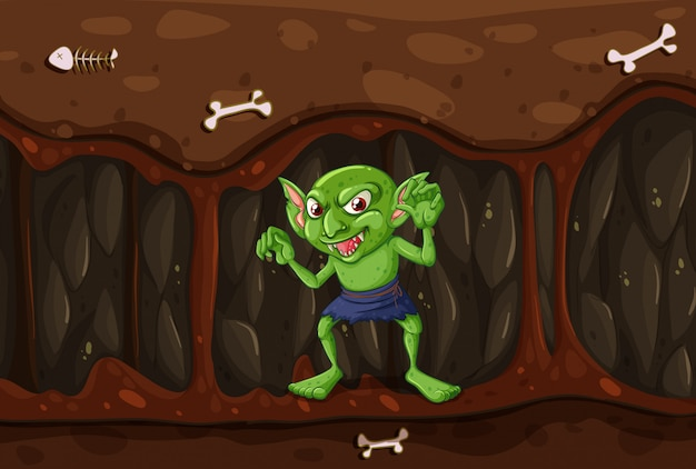 Goblin in the mystery cave