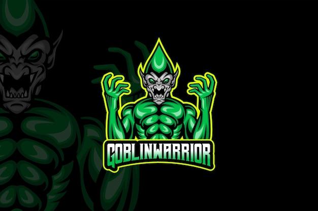 Goblin warrior- esport logo template