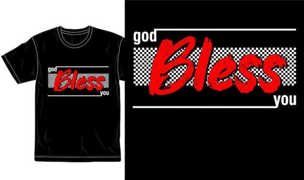 신의 축복이 있기를 인용 티셔츠 디자인 그래픽 벡터