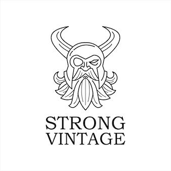 Шаблон дизайна логотипа талисмана бога одина