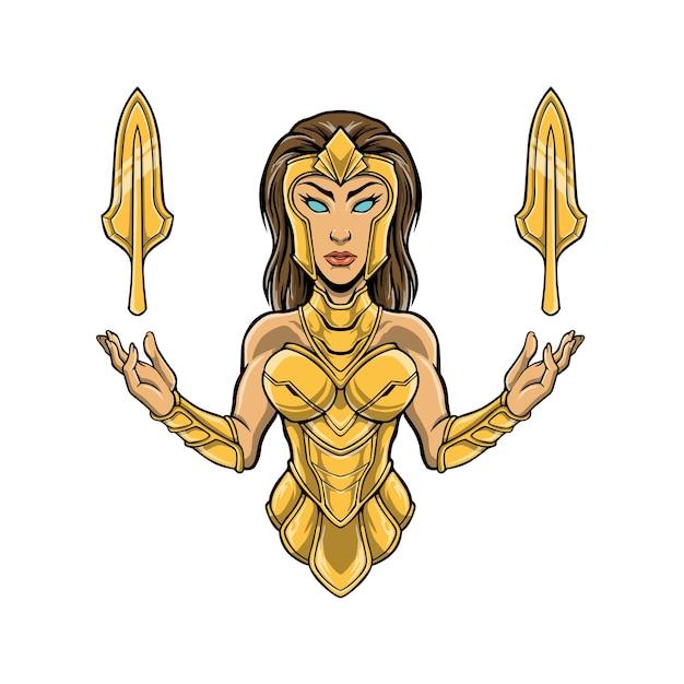 Богиня афина полутело иллюстрация иллюстрации,