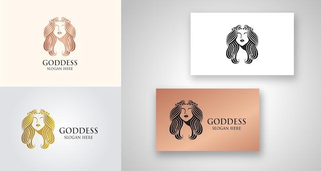 Goddess beauty feminine logo