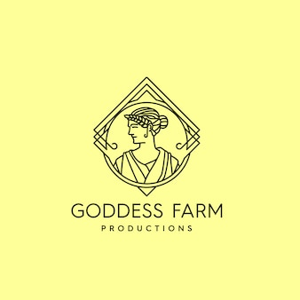 Goddess farm vintage logo