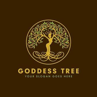 여신 나무 로고