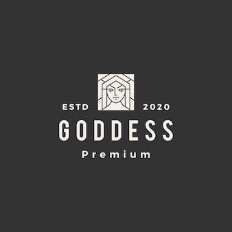 Винтажный логотип богини