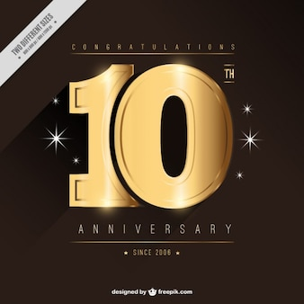 Goden tenth anniversary card