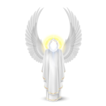 Gods guardian angel in white. archangels image. religious concept