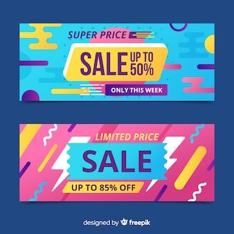Goemetric sales banners