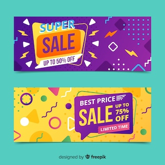 Goemetric sales banners