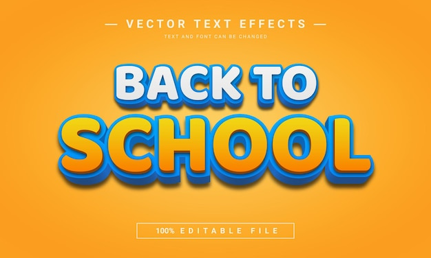 Going back to school  3d editable text effect